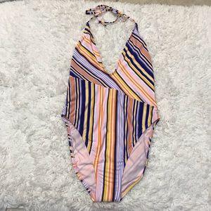 New! The Bikini Lab Stripe One Piece Swimsuit